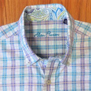 ALAN FLUSSER REGULAR FIT 100% COTTON SHIRT MADRAS